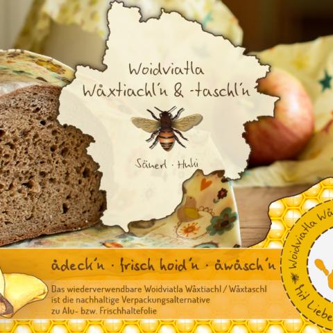 Woidviatla Woxtiachln & -taschln aus Baumwolle und Bienenwachs