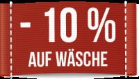 minus 10 Prozent auf Wäsche